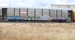 SEMER TWIT JOBE FESTEK (TrackSideLife) Tags: train graffiti ups twit freight jobe semer upsk festek