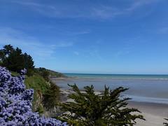 blues (airport92) Tags: travel sea sky mer color tourism water landscape outside seaside eau exterior bretagne nobody bleu ciel couleur lue