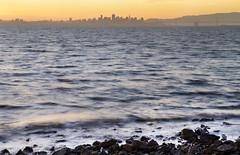 bayfarm tides (pbo31) Tags: sanfrancisco california bridge winter sunset orange color nature water silhouette skyline bay nikon earth tide baybridge bayarea eastbay february 80 alameda alamedacounty d800 2015 bayfarmisland