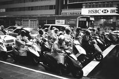 (Ah - Wei) Tags: street bw film taiwan contax motorcycle taipei t2 polypan