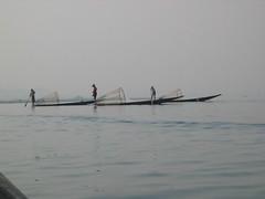 Row of Fishermen on Lake Inle