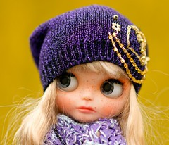Blythe Slouchy Glamour Sparkle Gold Embroidery Beads Hat