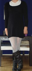 Floortje11 (Floortje_CD) Tags: girl skinny tv boots cd tights jeans crossdresser uggs mtf
