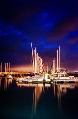 Gordon's Bay Harbour (WelshPixie) Tags: ocean longexposure nightphotography night southafrica gordonsbay westerncape nikond7000
