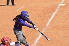 WCU Batter (AppStateJay) Tags: game college sc field sport ball out hit team action bat southcarolina fast sigma ground upstate run pitch usc safe softball batting athlete 70300mm pitcher score throw batter wcu nikond3200 westerncarolinauniversity radforduniversity sigma70300mmf456dgos