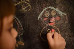 Drawing her daddy (mattVo) Tags: chalk sara drawing greenpeace coloring