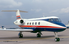 N23M - 1971 build Grumman Gulfstream II, frame scrapped at Fort Lauderdale Executive, FL in 2010 (egcc) Tags: 105 dusseldorf 3m gulfstream grumman bizjet dus eddl gulf2 n23m n6060 n405ga n807ga n754jb n5997k n711te