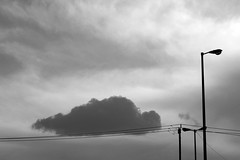 Fallen Cloud ($ALEH) Tags: street city sky blackandwhite bw cloud photoshop iran  mashhad khorasan        sonya7r ilcea7r salehdinparvar