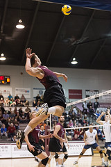 McMaster Marauders vs Waterloo Warriors Semi-Final 2 (Haddadios) Tags: york ontario sport bronze silver ed four gold athletics nikon university waterloo celebrations final ii mens lions windsor warriors volleyball championships nikkor gym vr afs mcmaster marauders medals 70200mm lancers 2470mm burridge oua f28g mvb d4s