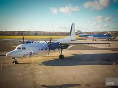 Air Baltic Fokker 50 YL-BAR (hjakse) Tags: f50 lettland amapola maersk fokker50 airbaltic lidostarga ylbar mrupemunicipality oymmt semfj