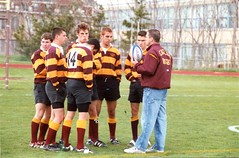 Mark Ciccone, Pat Butler, Chris Kenny, Owen Collins, Auggie Carbunari, and Dan Wolongevicz - 2002 (BC High Archives) Tags: 2002 rugby butler kenny ciccone lussier carbunari collinsowen wolongevicz