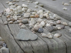 pepple stones on a plank (Ninas Daddy) Tags: wood stones steine holz plank