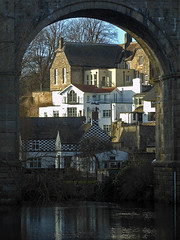 Through the archway (Camperman64) Tags: houses sunlight arch riverside framed viaduct frame hillside knaresborough wintersunlight rivernidd