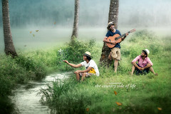 One Fleeting Exhuberent Moment (The Eternal Sunshine Art Works) Tags: morning india countryside stream happiness kerala sing trissur