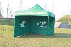 Quick Folding Tent met zeefdruk print Big Green Egg
