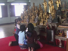 Children Offerings to Buddhas Bangkok