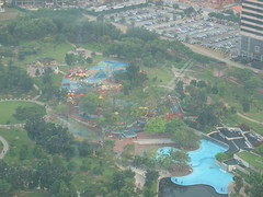 View of Kuala Lumpur Waterpark from Towers