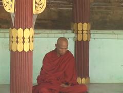 Monk in Contemplation Bagan