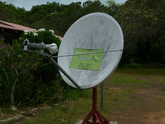 Satellite in the wilderness