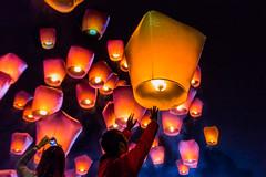 Pray for Peace  (Sharleen Chao) Tags: people color tourism festival night canon outdoor taiwan  pingxi 1635mm skylantern traditionalfestival    canoneos5dmarkiii canon5dmarkiii newtaipeicity