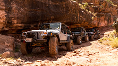 The afternoon crew (spencer.matches) Tags: jeep jeeps wrangler 4x4 off roading shade roks rocks red afternoon break moab utah wheeling
