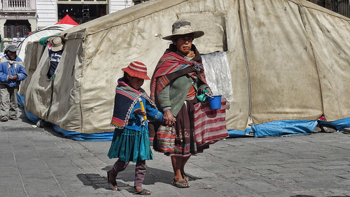 On the Streets of La Paz, Bolivia