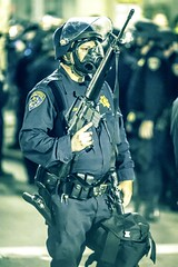 Oakland (Thomas Hawk) Tags: california usa oakland riot gun cops unitedstates fav50 unitedstatesofamerica protest police cop chp gasmask eastbay riots fav10 californiahighwaypatrol fav25 oscargrant oaklandriots johannesmersehle oaklandca070810 oaklandriots2010