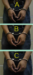 How do you wear your handcuffs? (asiancuffs) Tags: handcuffs handcuffed shackles shackled inmate prisoner sneaker