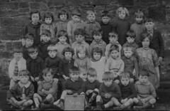 Class photo (theirhistory) Tags: boys girls children kids class form england uk jacketmshirt trousers skirt dress shorts socks shoes wellies seated tie wellingtonboots slate