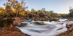 Lane Poole Rapids (Astronomy*Domine) Tags: lane poole reserve perth dwellingup westernaustralia longexposure 10 stop nd canon 6d tamron 2470 rapids water nik color efex sunset panorama pano