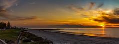 Summer Night (johnwilliamson4) Tags: adelaide beachseascape clouds orangeandblue semaphoresunset southaustralia summer sunset portadelaide australia