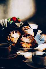 Espresso Chocochip Walnut Muffins (ErinaMak) Tags: tabletop chocolate muffin dessert espresso sweet breakfast foodstyling stilllife foodphotography sweets afternoon fujixt1 walnut treat coffee xf60mm