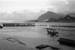 (Ah - Wei) Tags: sea bw film boat taiwan hc110 contax g2 45mm kodakdoublex5222