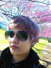 (Elisama Oliveira) Tags: flowers me colors pinkhair colorfulhair violethair