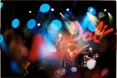 Polica @ pohoda festival (habologique) Tags: film analog kodak gold 200 nikon f3 nikkor double exposure multiple expo concert festival pohoda fest trencin music performance polica us band singer light reflectors bokeh slovakia slovensko