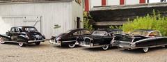 1941-1949-1955-1959 Cadillac Formal Group in Black (JCarnutz) Tags: 124scale diecast neoscalemodels danburymint franklinmint cadillac