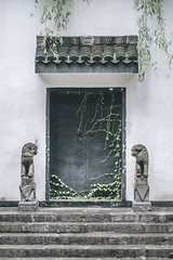 Sealed Off (Picocoon) Tags: door sculpture wall stairs chinese lion seal cirrus eave solemn classicarchitecture huistyle