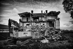Delete II (bnq.hendrix) Tags: delete house excavator abanoned history monochrome blackandwhite