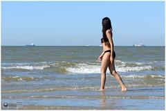 gib_beach075 (photo5720) Tags: beach lifestyle woman lovely beauty water sky sea dress sand pretty girl sun beautiful seashore outdoor portrait fotoshoot photoshoot gib model pink shawl noordzee strand ouddorp nordsee kust vakantie nikon fun mer merdunord  netherlands dutch holland