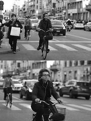 [La Mia Citt][Pedala] (Urca) Tags: milano italia 2016 bicicletta pedalare ciclista ritrattostradale portrait dittico nikondigitale mir bike bicycle biancoenero blackandwhite bn bw 87291