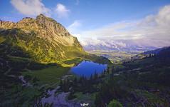 ... (Benny / 2B-OptiK) Tags: landscape landschaften landscapes mountains mountain gaisalpsee rubihorn nebelhorn nature lake hdr clouds bavaria germany sigma austria sunshine trees berge allgu