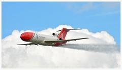 G-OSRA Boeing 727 252F shows off its spray capability. (Ciaranchef's photography.) Tags: boeing boeing727 gosra airshow airplanes airdisplay flyingdisplay flying farnborough2016 farnboroughairshow nikon18300mmf3556gedvr nikonaviation
