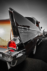 Bella (Silverio Photography) Tags: chevy belair fin chrome car classic vintage vignetting canon 60d sigma 1770 topaz adjust photoshop elements