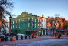 View of S. Broadway St., Fell's Point, Baltimore Maryland (PhotosToArtByMike) Tags: fellspoint baltimore maryland md southbroadwaystreet fellspointnationalhistoricdistrict historicwaterfront waterfrontcommunity rowhouses storefronts 18thand19thcenturyhomes baltimoreharbor maritime