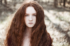 Wind In Her Hair (alexandra_bochkareva) Tags: helios hair red redhead russia face freckles weather wonderland woman sensual sun