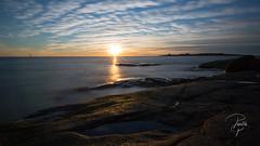 Solnedgng ver Tyln (pellepersson) Tags: tylsand sunset hav clud kust rocks seaside sweden sverige halmstad