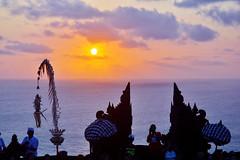 Uluwatu Temple Sunset (Roselinde Alexandra) Tags: bali indonesia travel uluwatu temple sunset sky nature