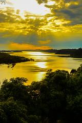 The Lake Entrance (nimitrastogi) Tags: water sea lake nature sun sunset rays clouds cloudy trees reflection shine lakeentrance beautiful beauty love photography australia nikon