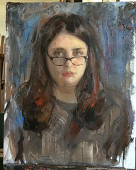 Portrait Demo at the Delaware Art Museum yesterday for the IX... (Dorian Vallejo) Tags: art fine drawing figure mixed media drawings oil painting dorian vallejo