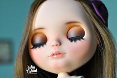 Beauty&Beast Girl #256 (Julia Cabral Dolls) Tags: sbl encore teafortwo blythe dolls takara brunet brown hair belle beauty beast custom custombyme makeup faceup mouth lips carved juliacabral juliacabraldolls eyelids